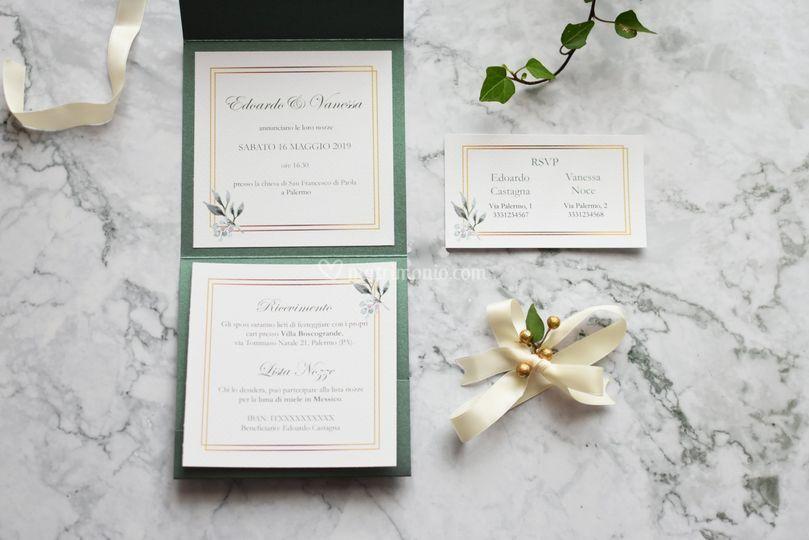 Partecipazione green elegance