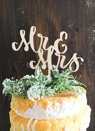 Cake topper MR&MRS