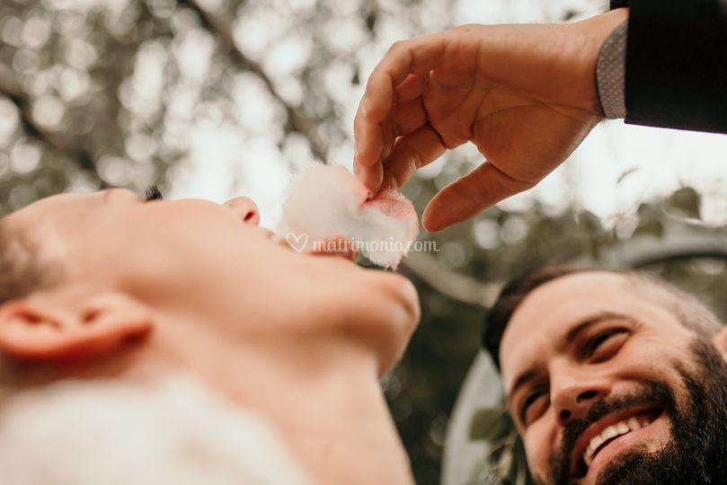 Sposi e zucchero filato
