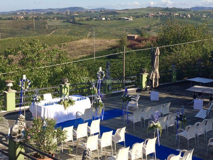 Cerimonia civile in terrazza