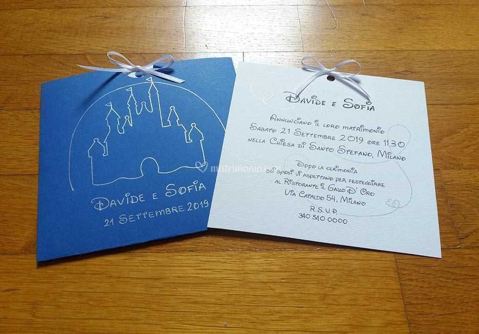 Partecipazioni Matrimonio Disney.Partecipazione Tema Disney Di Sara Carloni Studio Foto 41