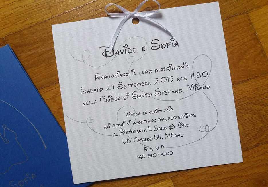 Partecipazioni Matrimonio Disney.Partecipazione Tema Disney Di Sara Carloni Studio Foto 43