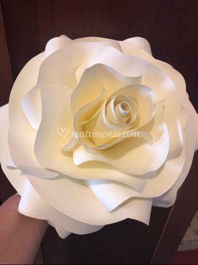 Rosa in cartoncino