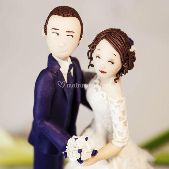 Wedding topper in fimo di Topper di matrimonio di Caramel's Cake