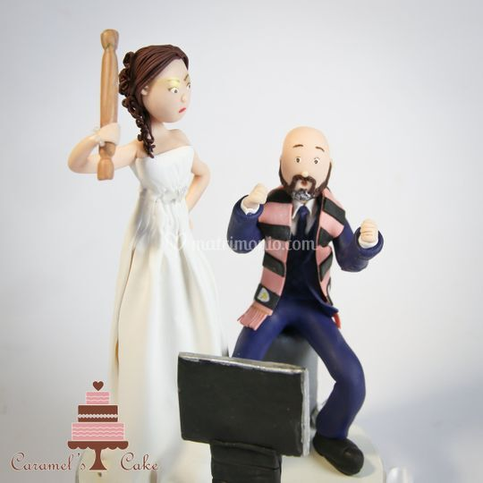 Wedding topper in fimo