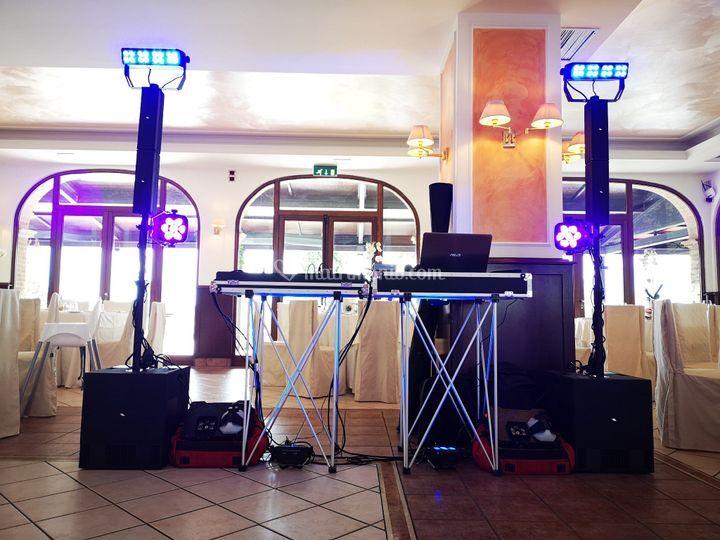 Impianto audio e luci