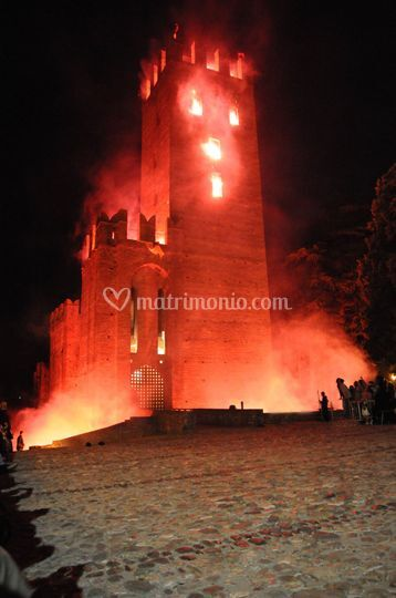Finto incendio del Castello