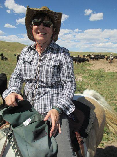 Teresa a cavallo in Colorado