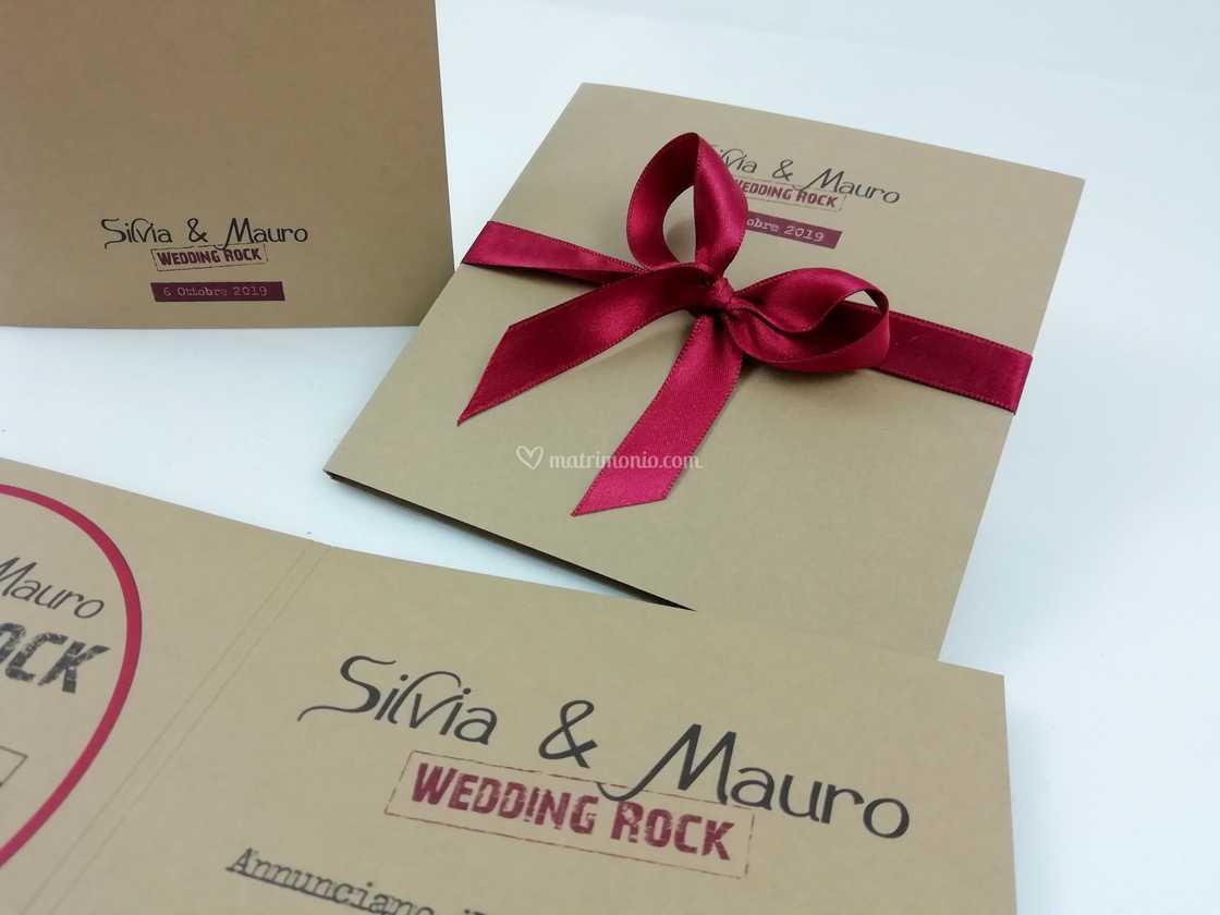 Partecipazioni Matrimonio Rock.Partecipazioni Rock Di Mondo Regalo Foto 25
