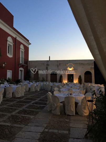 Allestimento wedding esterno