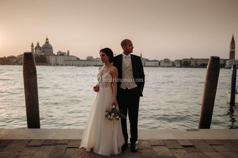 Coppia sposi matrimonio venezi