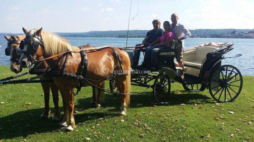 Carrozza sul lago Maggiore