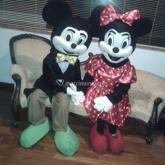 Mascotte Minnie e Topolino