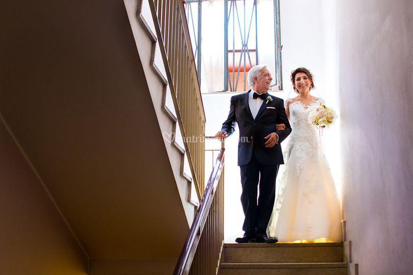 Con il padre della sposa