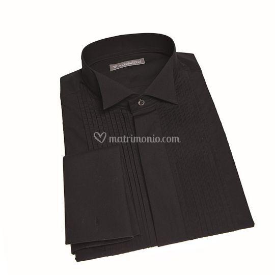Camicia da smoking nera
