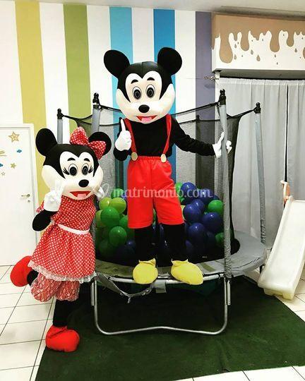 Animazione Minnie e Topolino