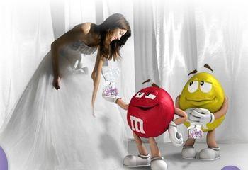 Matrimonio con M&M's