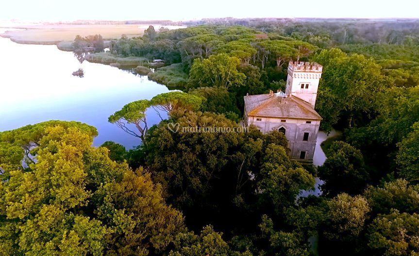 Villa Orlando dal cielo
