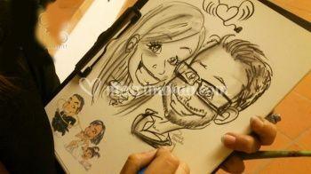 Caricatura sposi dal vivo