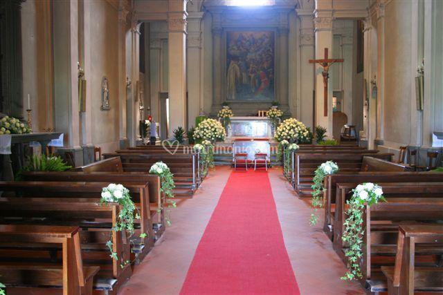 Addobbo chiesa S.Martino alla Palma