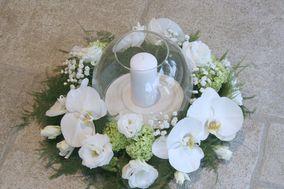 Centrotavola bianco con orchidee