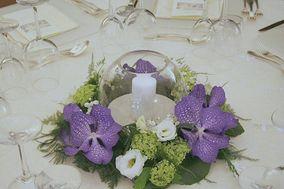Centrotavola con orchidee wanda