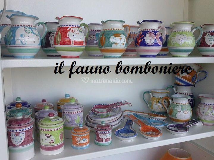 Matrimonio Tema Napoletano : Il fauno ceramiche