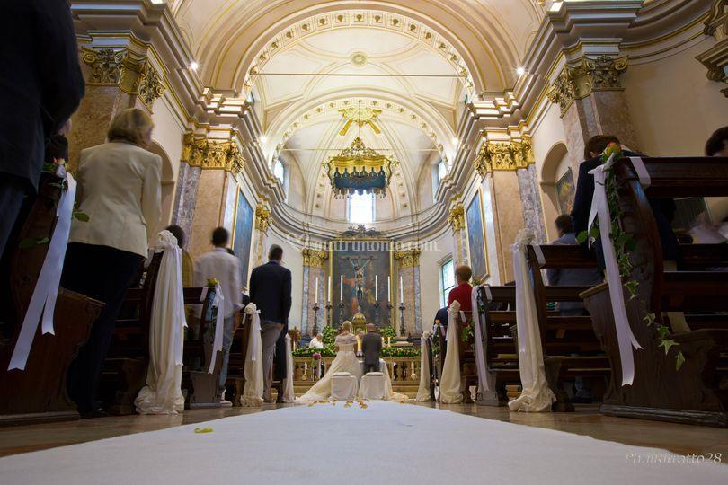 Allestimento della chiesa