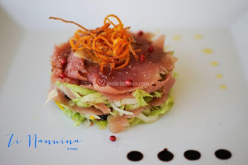 Carpaccio di tonno rosso