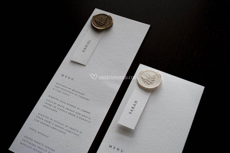 Pocket Suite - menù/segnaposto