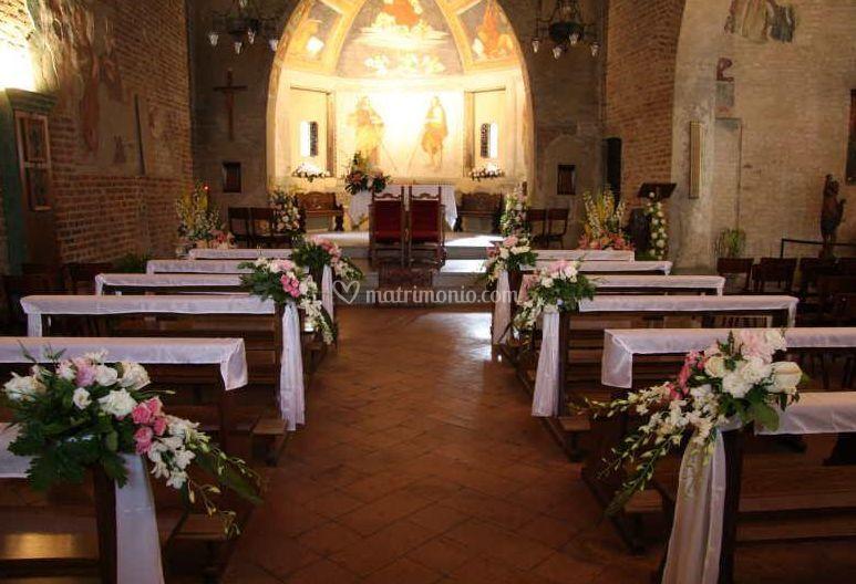 Decorazioni Per La Chiesa Matrimonio : Decorazione chiesa di piante e fiori morlupo fotos