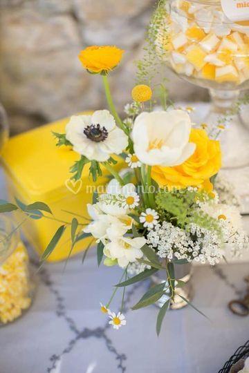 Fiori semplici color  giallo