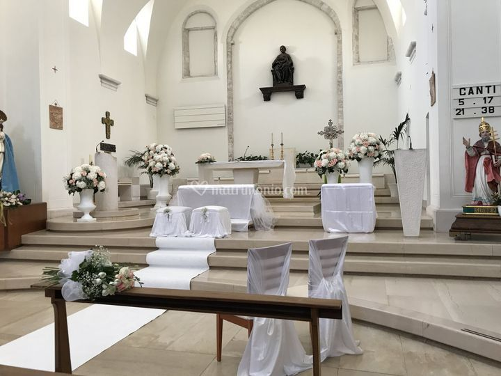 Addobbo chiesa ortensie