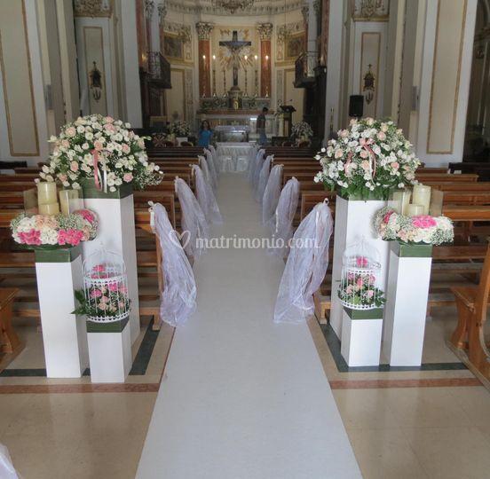 Tris floreale per ingresso