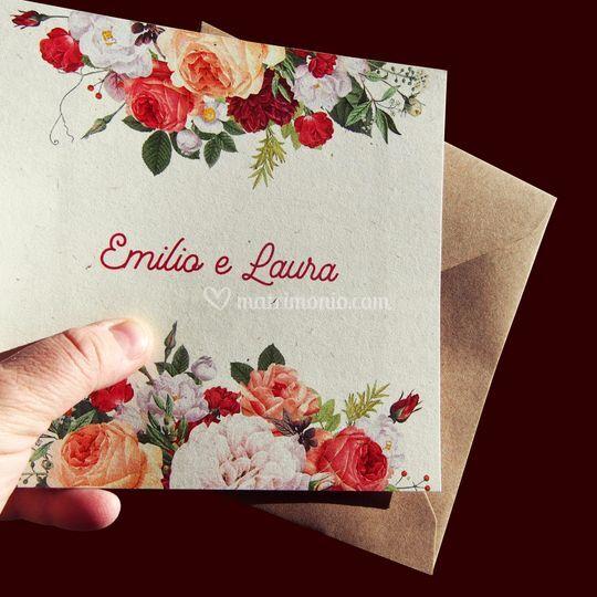 Carta Flora Avorio