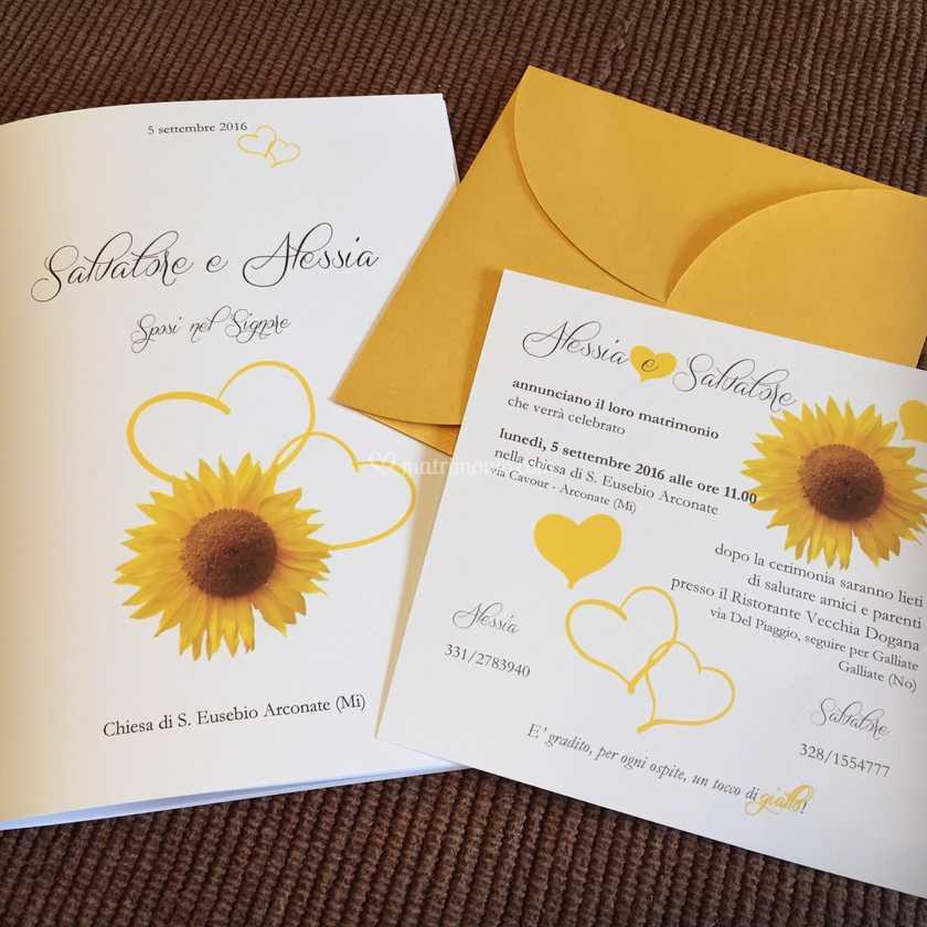 Partecipazioni Matrimonio Girasoli.Libretto Matrimonio Girasole Di Elly Sposi Foto 11