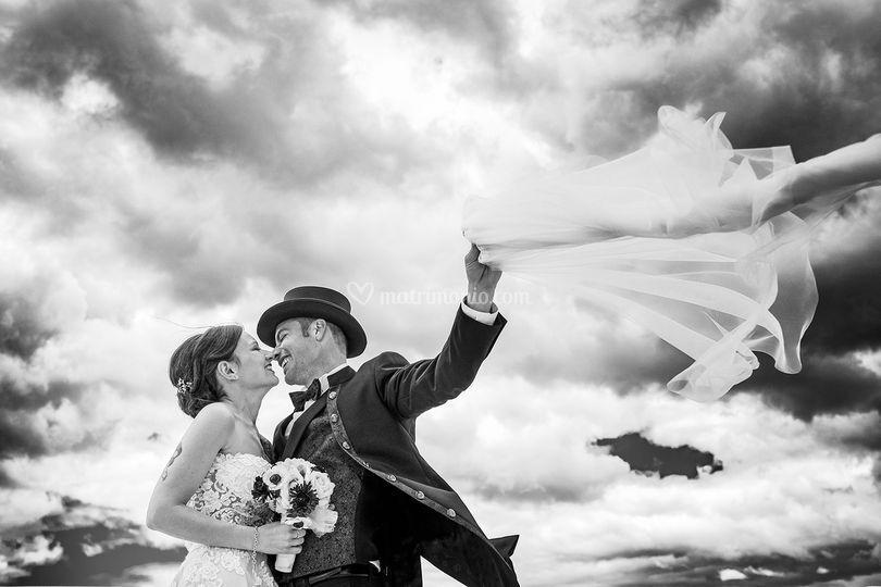 Sposi bianco e nero