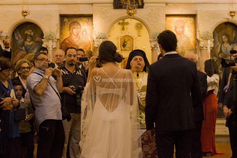 Matrimonio con rito bizantino