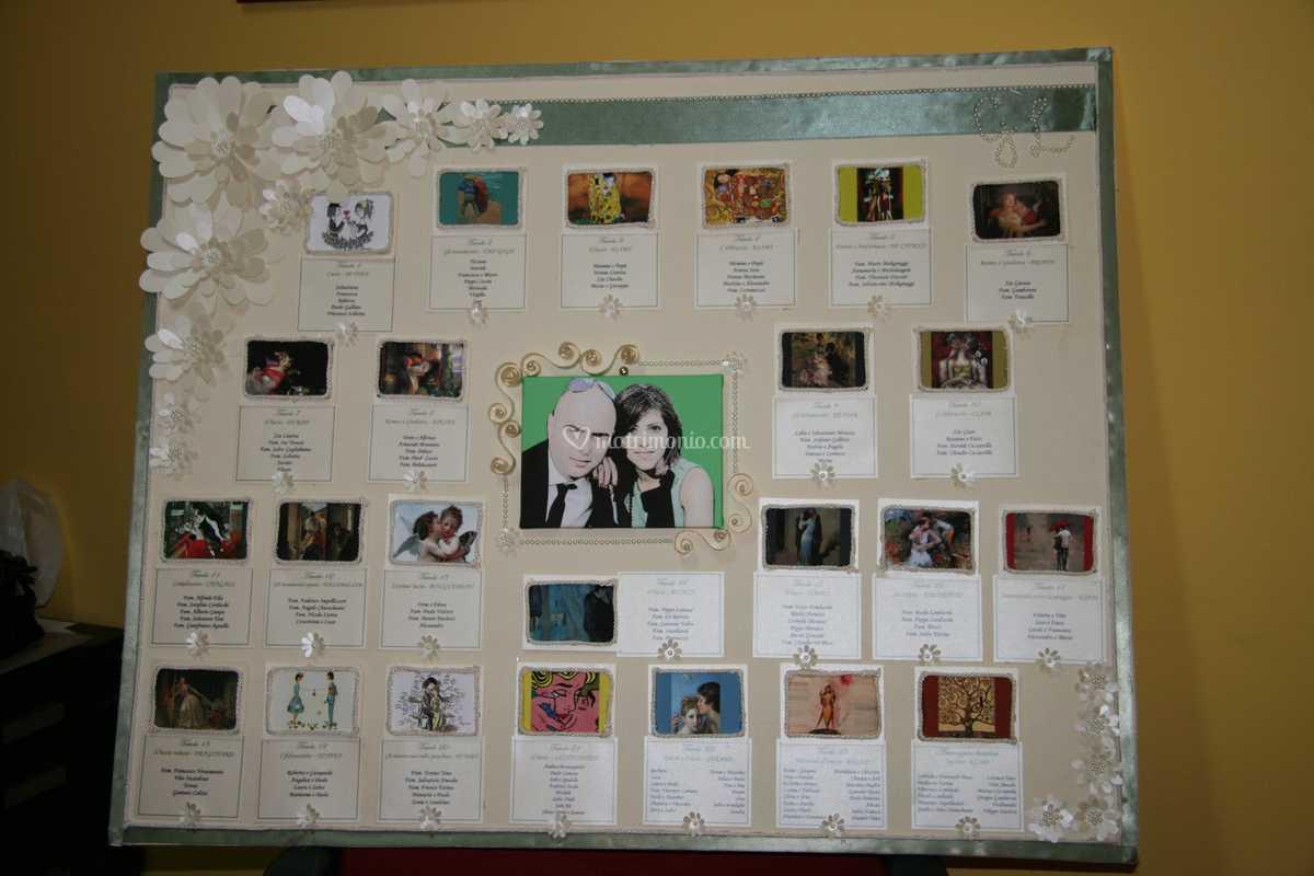 Segnaposto Matrimonio Quadri.Tableau Tema Quadri D Amore Di Wow Creativity Store Foto 3