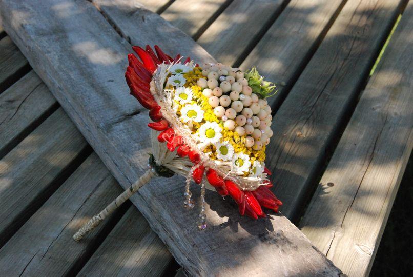 Bouquet da sposa scomposto