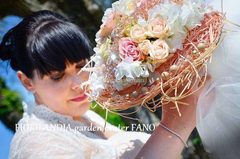 Bouquet da sposa cipria