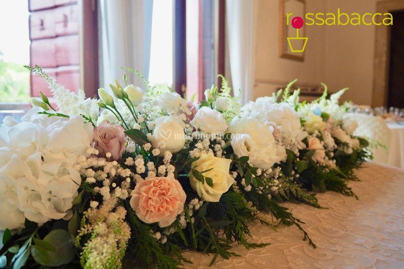 Tavolo sposi floreale