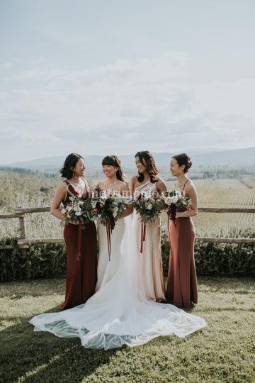 Damigelle della sposa in Tosca