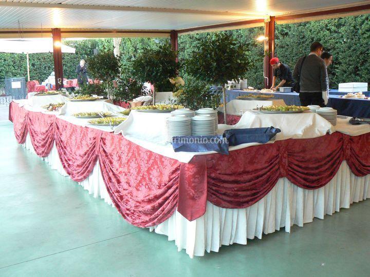 Gazebo tavolo buffet