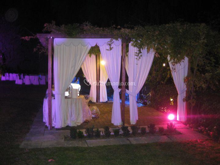 Illuminazione scenogr gazebo di ive staff foto