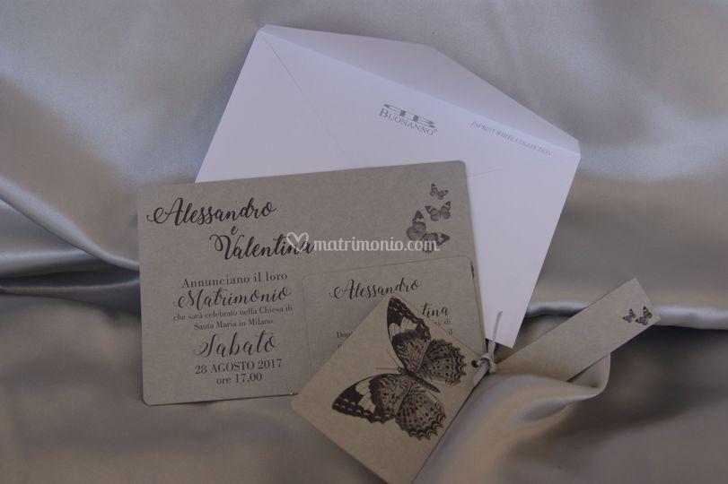 Set partecipazioni nozze E014