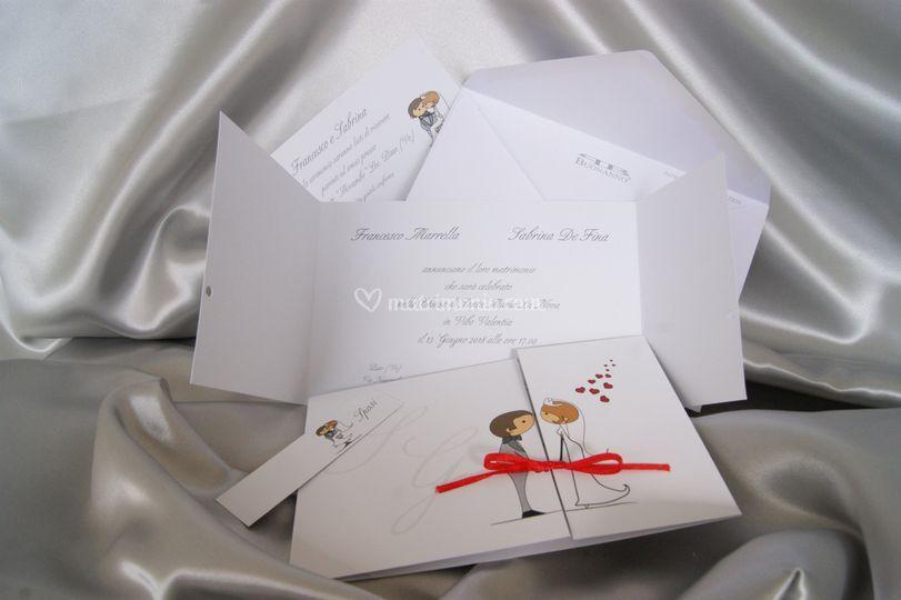 Set partecipazioni nozze E004