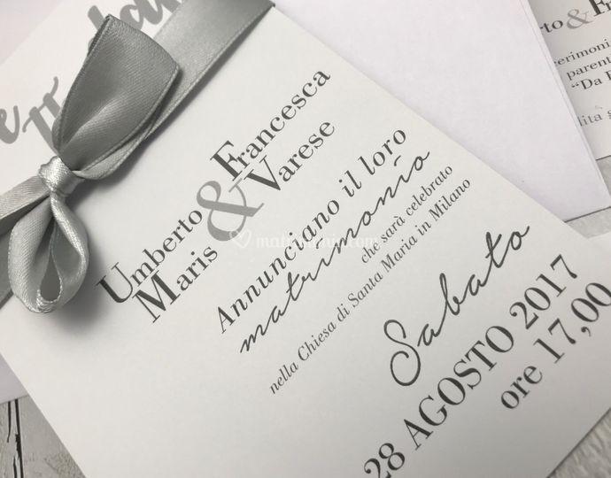 Set partecipazioni nozze E011