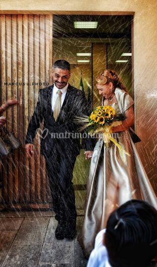 Wedding pioggia di riso