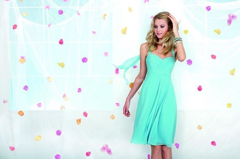 Ab. corto in chiffon tiffany